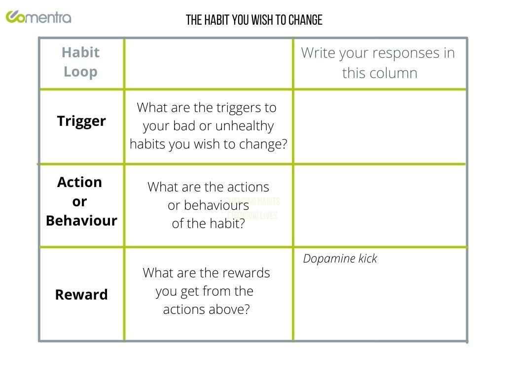 Habit Loop Grid To Work With